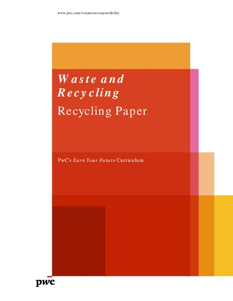 Waste and Recycling: Recycling Paper Lesson Plan
