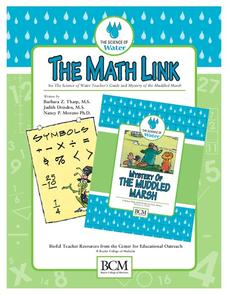 Water: The Math Link Activities & Project