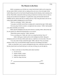 The Monster in the Barn Worksheet