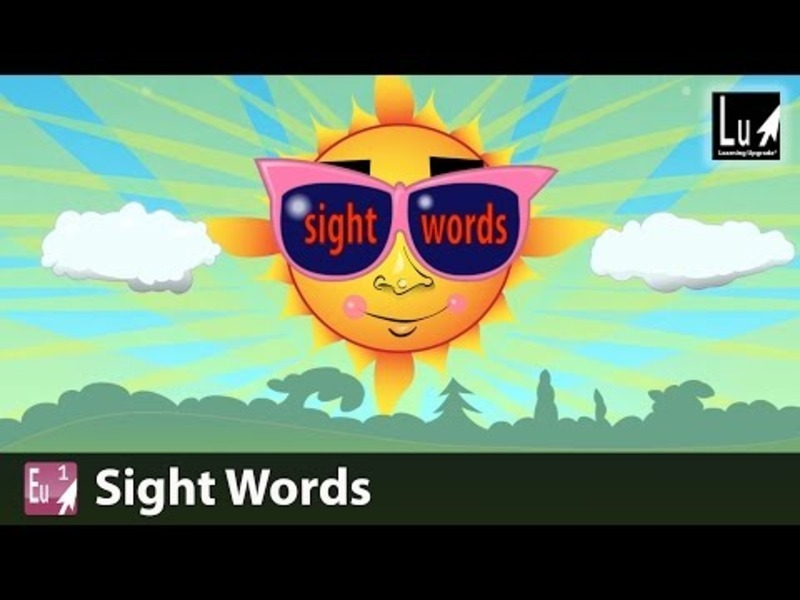 Sight Words Song Video
