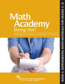 Math Academy Dining Out! Worksheet