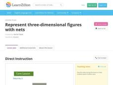 Represent Three-Dimensional Figures with Nets Video