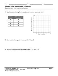 Absolute Value Equations and Inequalities Worksheet