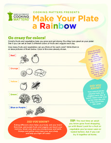 Make Your Plate a Rainbow Handouts & Reference