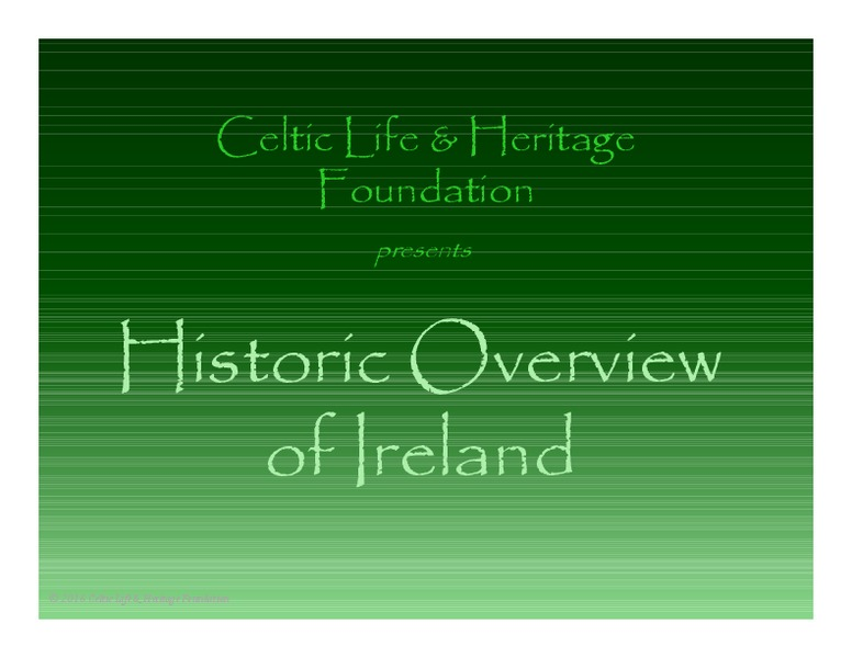 Historic Overview of Ireland Presentation