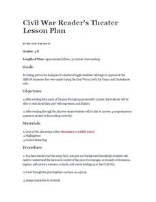 Civil War Reader's Theater Lesson Plan