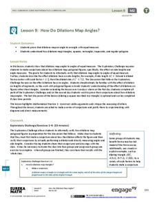 How Do Dilations Map Angles? Lesson Plan