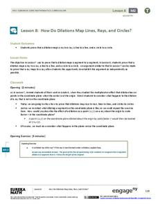 How Do Dilations Map Lines, Rays, and Circles? Lesson Plan