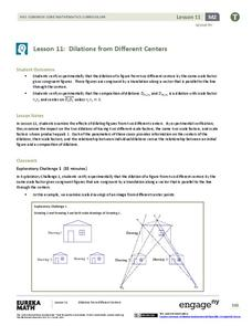 Dilations from Different Centers Lesson Plan