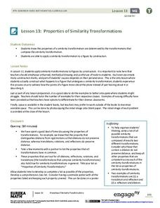 Properties of Similarity Transformations Lesson Plan