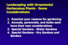 Landscaping with Ornamental Herbaceous Plants Presentation