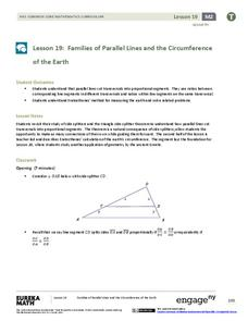 Families of Parallel Lines and the Circumference of the Earth Lesson Plan