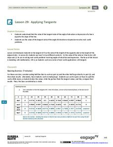 Applying Tangents Lesson Plan