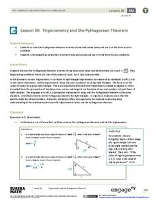 Trigonometry and the Pythagorean Theorem Lesson Plan