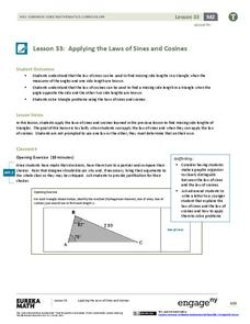 Applying the Laws of Sines and Cosines Lesson Plan