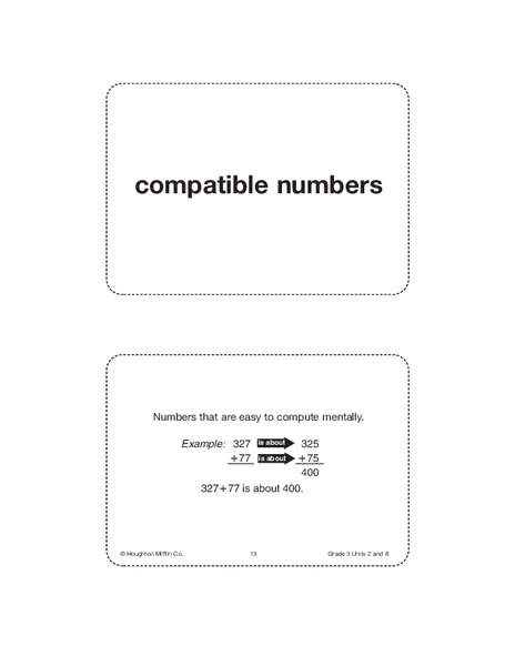 Unit 8 Math Vocabulary Cards (Grade 3) Printables & Template