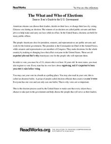 Election Process Lesson Plans & Worksheets Reviewed by ...