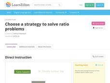 Choose a Strategy to Solve Ratio Problems Video