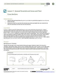 General Pyramids and Cones and Their Cross-Sections Assessment