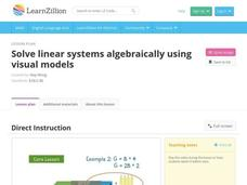 Solve Linear Systems Algebraically Using Visual Models Video