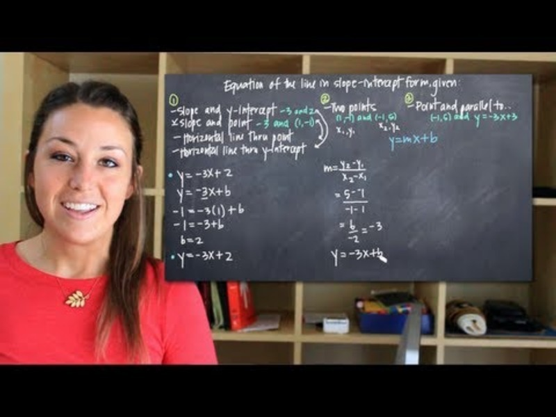 Equation of the Line in Slope-Intercept Form Video