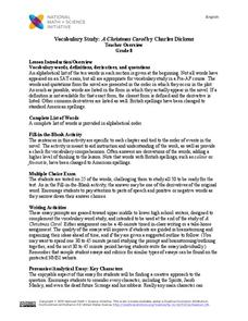 Vocabulary Study: A Christmas Carol by Charles Dickens Lesson Plan