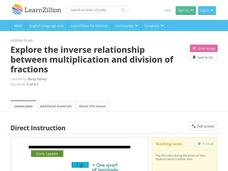 Explore the Inverse Relationship between Multiplication and Division of Fractions Video
