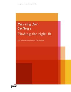 Paying for College: Finding the Right Fit Lesson Plan