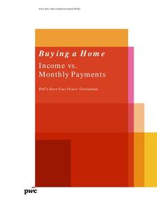 Buying a Home: Income vs. Monthly Payments Lesson Plan
