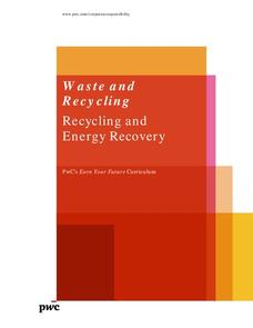 Waste and Recycling: Recycling and Energy Recovery Lesson Plan