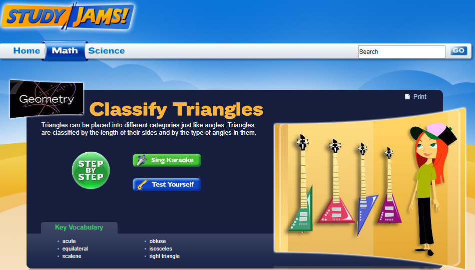 Study Jams! Classify Triangles Interactive