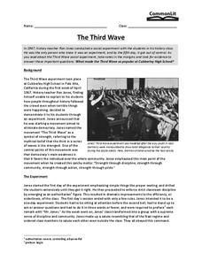 The Third Wave Worksheet