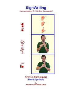 American Sign Language Hand Symbols Handouts & Reference