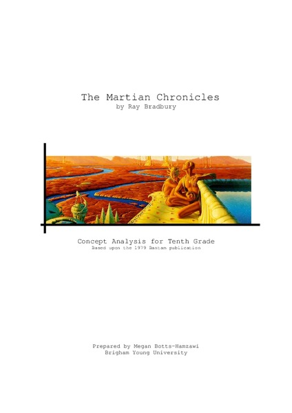 The Martian Chronicles: Concept Analysis Handouts & Reference
