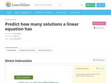 Predict How Many Solutions a Linear Equation Has Video