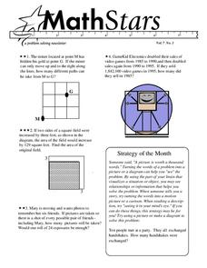 Math Stars: a Problem-Solving Newsletter Grade 7 Worksheet