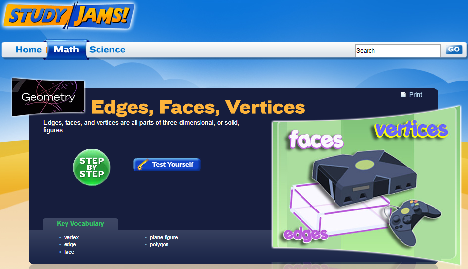 Study Jams! Edges, Faces, Vertices Interactive