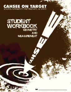 Student Workbook: Geometry and Measurement Handouts & Reference
