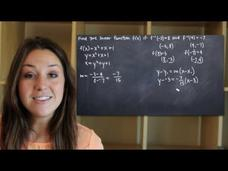 Finding the Linear Function Given Two Points on its Inverse Video