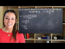 Use the Quadratic Formula to Find Roots of the Function Video