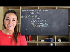 Completing the Square of a Quadratic Function Video