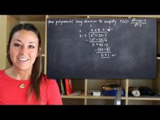 Polynomial Long Division for Rational Functions Video