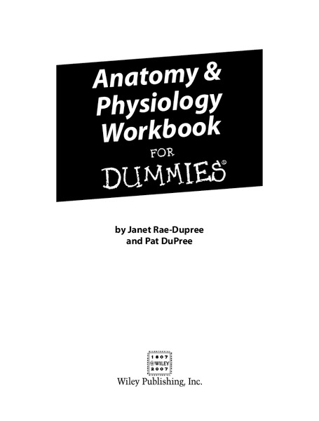 Anatomy and Physiology Workbook Lesson Plan