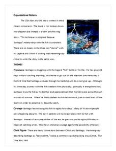 an analysis of the characters plot and setting in ernest hemingways the old man and the sea What is the conflict in 'the old man and the sea by ernest hemingway hemingway may have been likened to his character in the old man in the sea by his critics because of the length of time what type of fish did the old man catch in hemingways old man and the sea marlin share to.