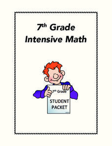 Intensive Math Worksheet