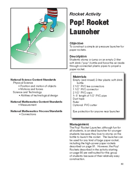 Pop! Rocket Launcher Handouts & Reference