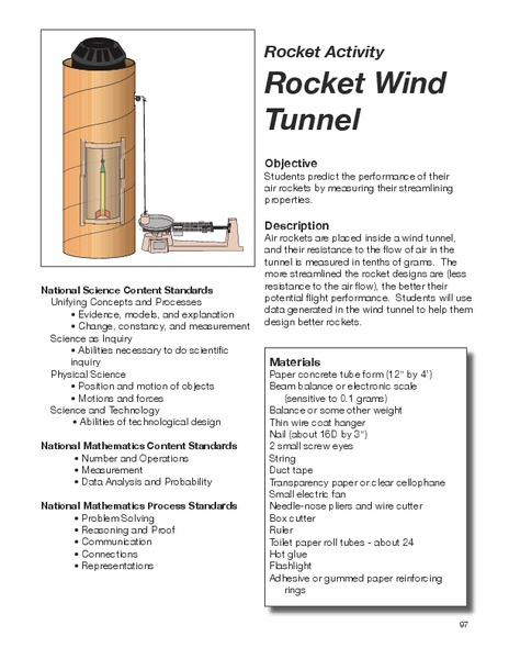 Rocket Wind Tunnel Lesson Plan