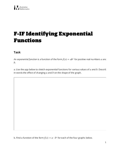 Identifying Exponential Functions Assessment