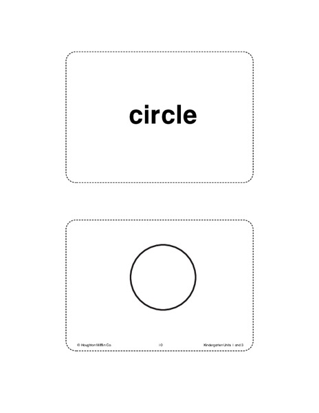 Unit 3 Math Vocabulary Cards (Grade K) Printables & Template