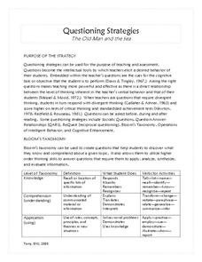 The Old Man and the Sea: Questioning Strategies Activities & Project
